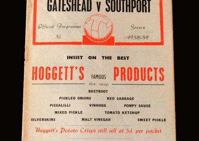 Gateshead v Southport 29.08.1959