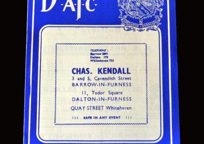 Gateshead v Barrow 31.08.1959