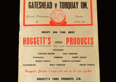 Gateshead v Torquay 12.09.1959