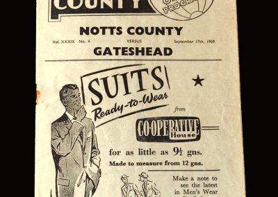 Gateshead v Notts County 17.09.1959