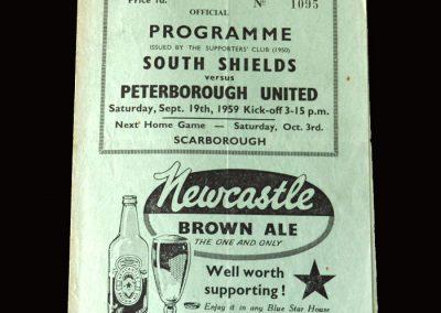 South Shields v Peterborough 19.09.1959