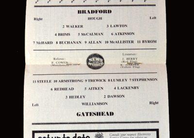 Gateshead v Bradford Park Ave 07.11.1959