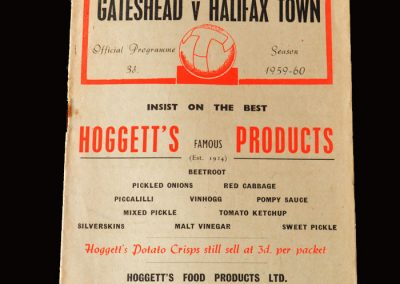 Gateshead v Halifax 14.11.1959 (FA Cup Round 1)