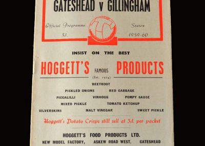 Gateshead v Gillingham 19.12.1959