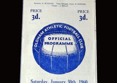 Gateshead v Oldham 30.01.1960