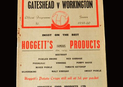 Gateshead v Workington 20.02.1960 (postponed - played 28.03.1960)