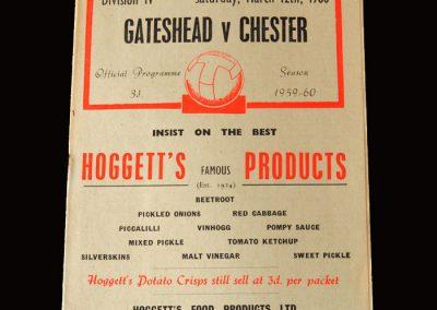 Gateshead v Chester 12.03.1960