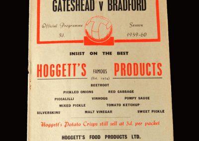 Gateshead v Bradford Park Ave 26.03.1960