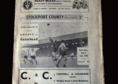 Gateshead v Stockport 02.04.1960