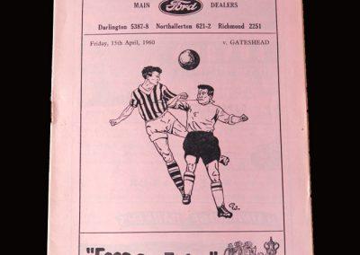 Gateshead v Darlington 15.04.1960