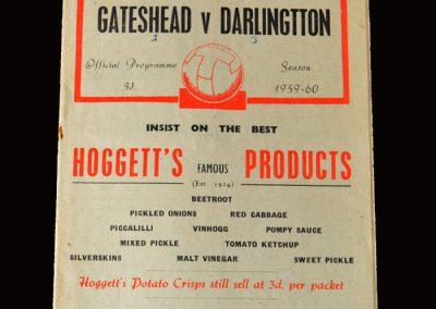 Gateshead v Darlington 18.04.1960