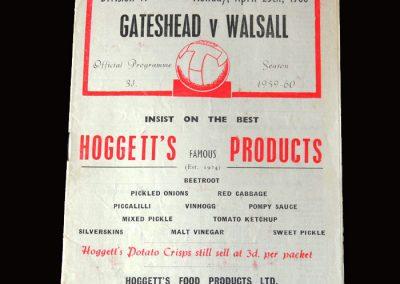 Gateshead v Walsall 25.04.1960