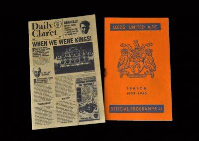 Burnley v Leeds 22.08.1959