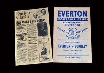 Burnley v Everton 02.09.1959