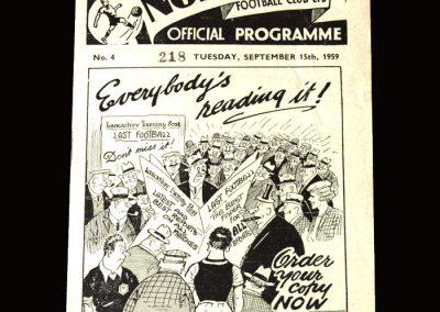Burnley v Preston 15.09.1959