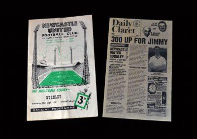 Burnley v Newcastle 19.09.1959