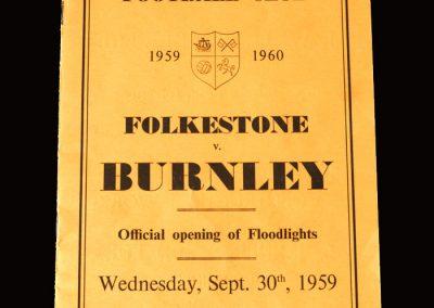 Burnley v Folkestone 30.09.1959