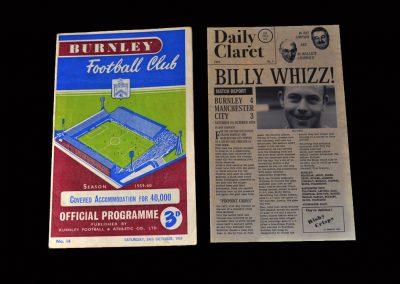 Burnley v Man City 24.10.1959