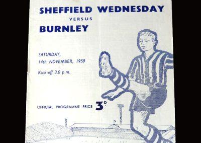 Burnley v Sheff Wed 14.11.1959