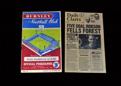 Burnley v Notts Forrest 21.11.1959