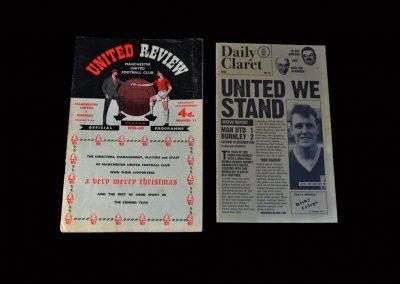 Burnley v Man Utd 26.12.1959