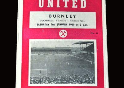 Burnley v West Ham 02.01.1960