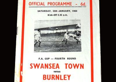 Burnley v Swansea 30.01.1960 (FA Cup Round 4)