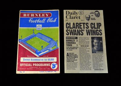 Burnley v Swansea 02.02.1960 (FA Cup Round 4 Replay)