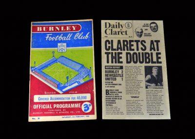 Burnley v Newcastle 06.02.1960