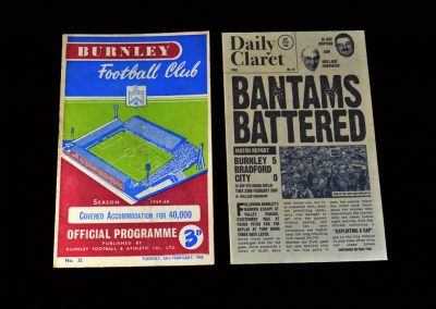 Burnley v Bradford 23.02.1960 (FA Cup Round 5 Replay)