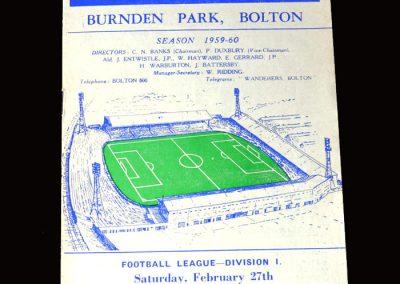 Burnley v Bolton 27.02.1960