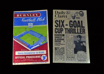 Burnley v Blackburn 12.03.1960 (FA Cup Round 6)