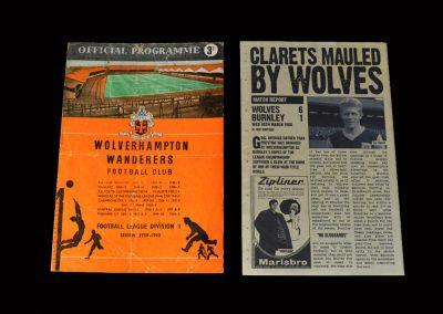 Burnley v Wolves 30.03.1960