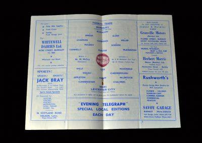 Burnley v Leicester 15.04.1960