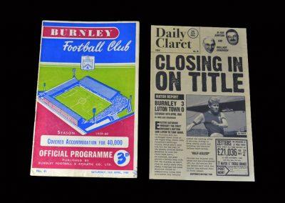 Burnley v Luton 16.04.1960