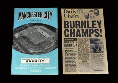 Burnley v Man City 02.05.1960