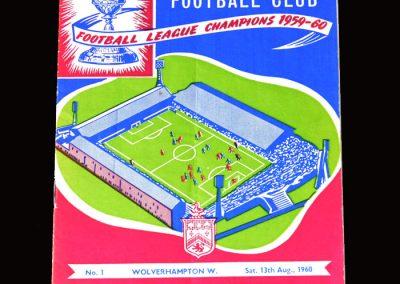 Burnley v Wolves 13.08.1960 (Charity Shield)
