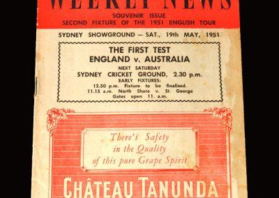 England v New South Wales 26.05.1951 8-1