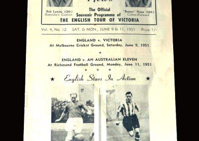 England v Victoria 09.06.1951 7-0 [& 6-1 v Australian X1]