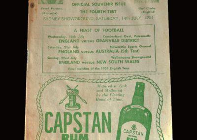 England v Australia 14.07.1951 6-1