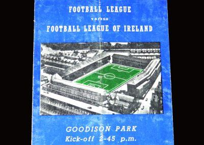 Football League v Irish League 10.10.1951