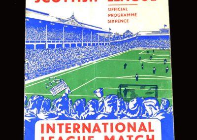 Football League v Scottish League 31.10.1951