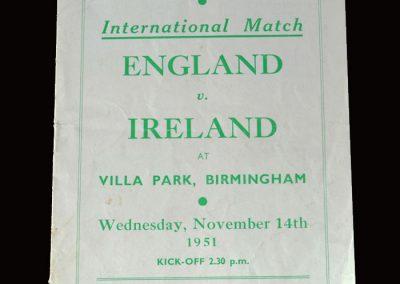 England v Ireland 14.11.1951