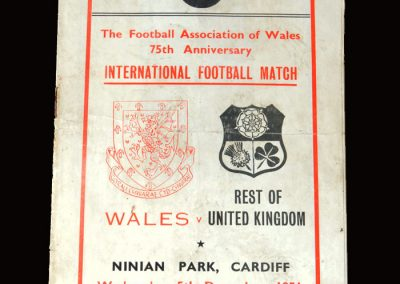 Wales v The Rest of the UK 05.12.1951