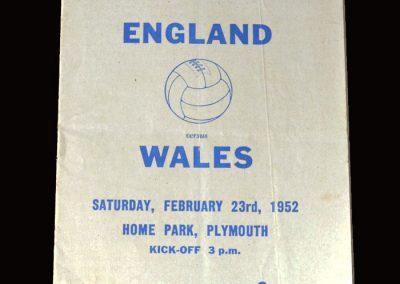 England Youth v Wales Youth 23.02.1952