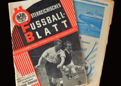 Austria v England 25.05.1952