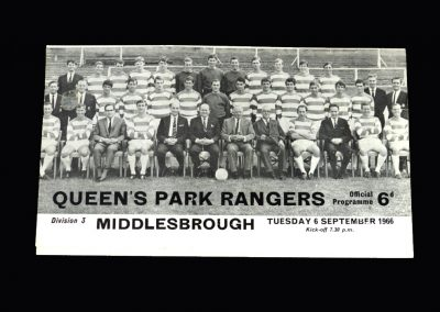 Middlesbrough v Queens Park Ranges 06.09.1966