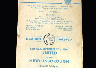 Middlesbrough v Scunthorpe 17.09.1966
