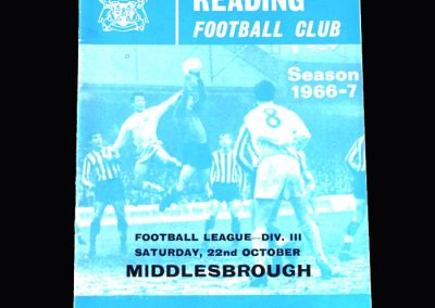 Middlesbrough v Reading 22.10.1966