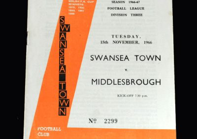 Middlesbrough v Swansea 15.11.1966